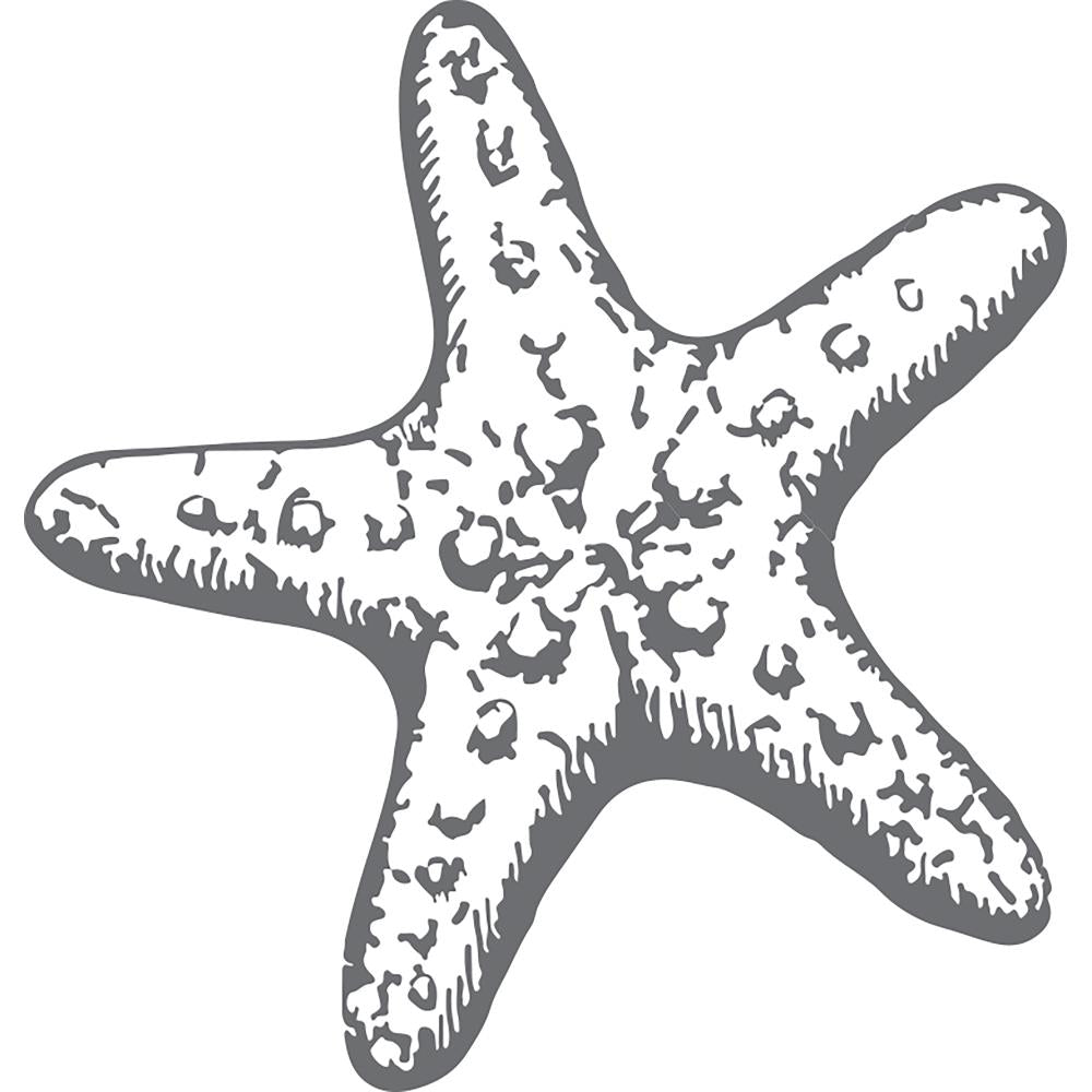 "Couture Creations - Seaside And Me Stamps - Mini Starfish, 1.9""X1.9"""