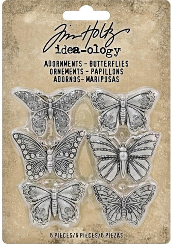 Tim Holtz - Idea-ology Adornments - Butterflies