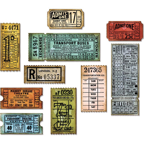 (Pre Order ) Sizzix Thinlits Dies By Tim Holtz  - Ticket Booth