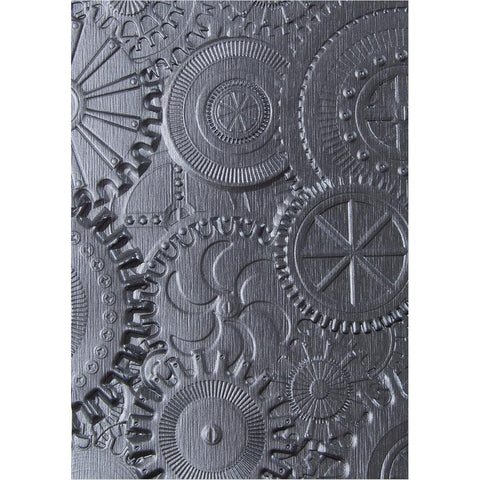 (Pre-Order) Sizzix 3D Texture Fades Embossing Folder By Tim Holtz - Mechanics
