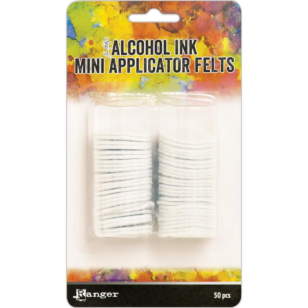 Ranger - Tim Holtz Alcohol Ink Mini Applicator Tool Replacement Felt - 50/Pkg