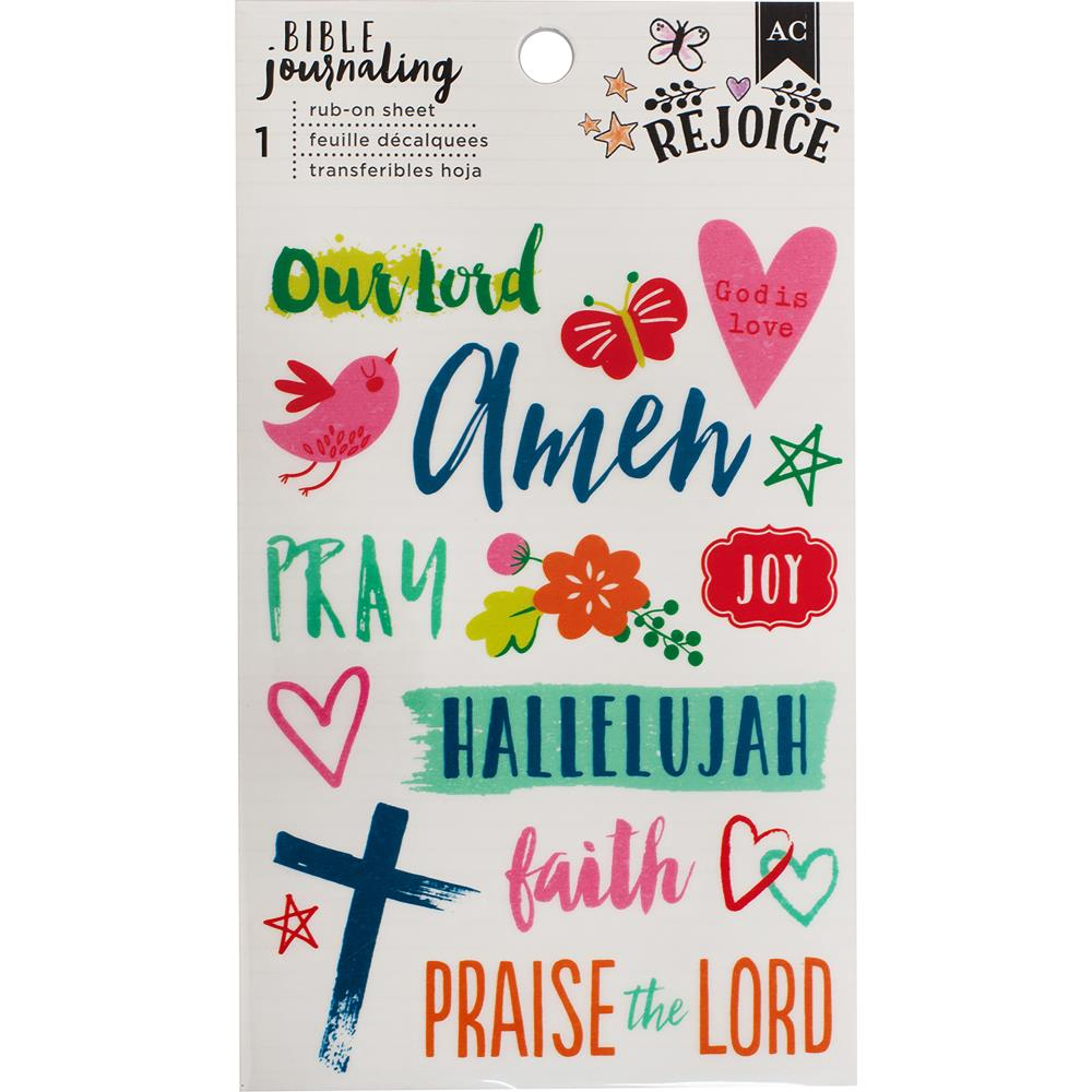 "American Crafts  -  Bible Journaling Rub-On Sheet 4""X6.5"" - Hallelujah"
