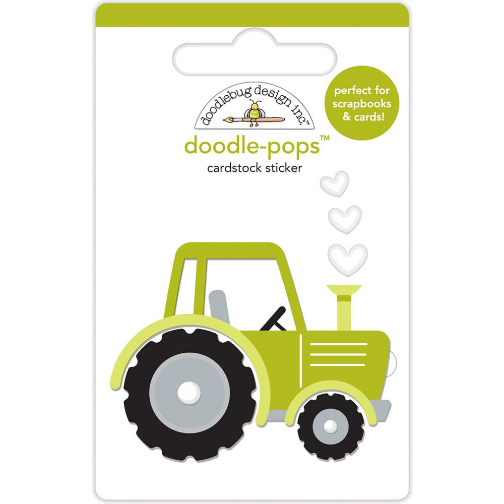 Doodlebug - Doodle-Pops 3D Stickers - Trusty Tractor