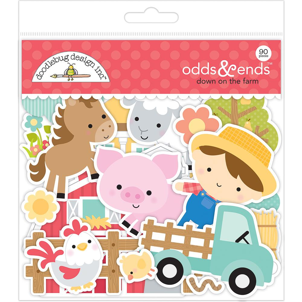 Doodlebug - Odds & Ends Die-Cuts 90/Pkg - Down On The Farm