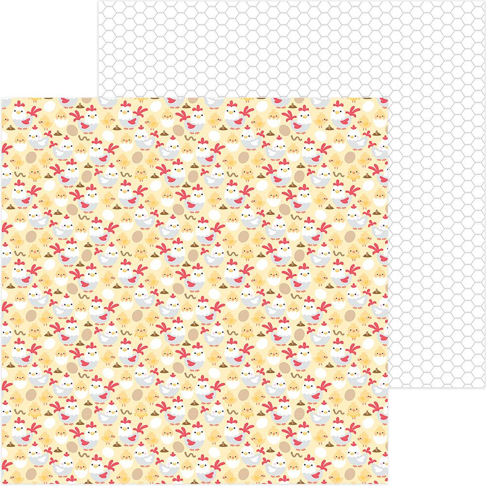 "Doodlebug - Down On The Farm Double-Sided Cardstock 12""X12"" - Chicken Coop"