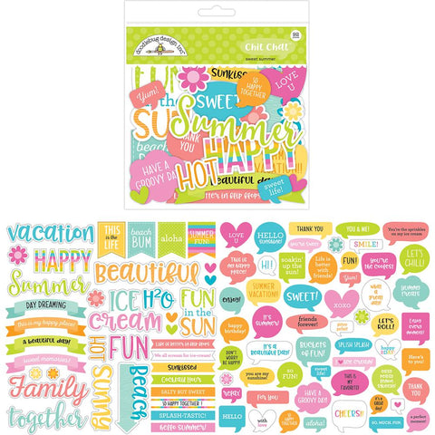 Doodlebug - Odds & Ends Die-Cuts 92/Pkg Sweet - Summer Chit Chat