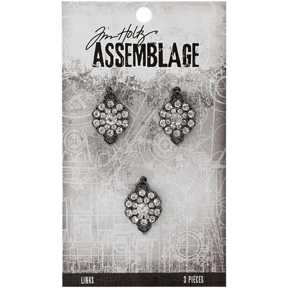 Advantus - Tim Holtz Assemblage Links 3pcs - Gemstone Flowers