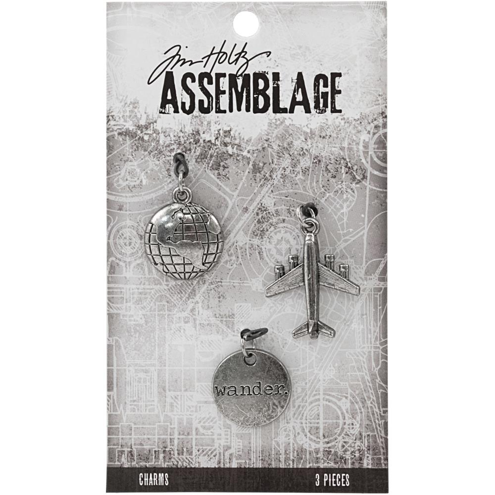 Advantus - Tim Holtz Assemblage Charms 3pcs - Journey