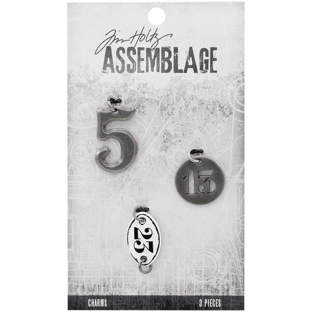 Advantus - Tim Holtz Assemblage Charms 3pcs - Numbers