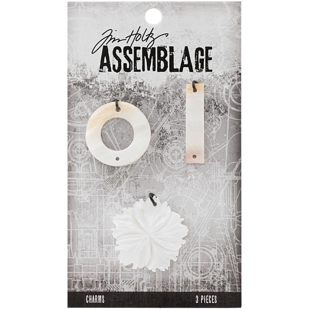 Advantus - Tim Holtz Assebblage Charms 3pc - Shell Flower