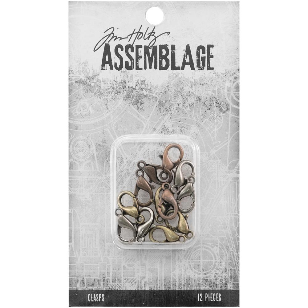Advantus - Tim Holtz Assemblage Clasps 12pcs - Assorted Lobster Claws