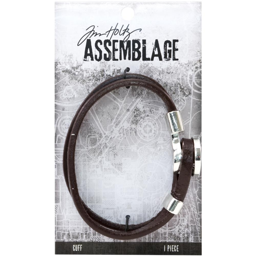 Advantus - Tim Holtz Assemblage Cuff Bracelet 1/Pkg - Brown W/Loop Hitch Enclosure