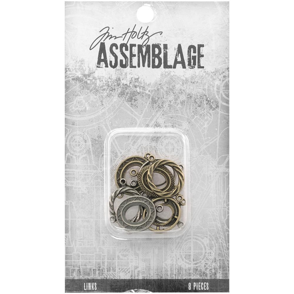 Advantus - Tim Holtz Assemblage Links 8pcs - Ornate Ovals