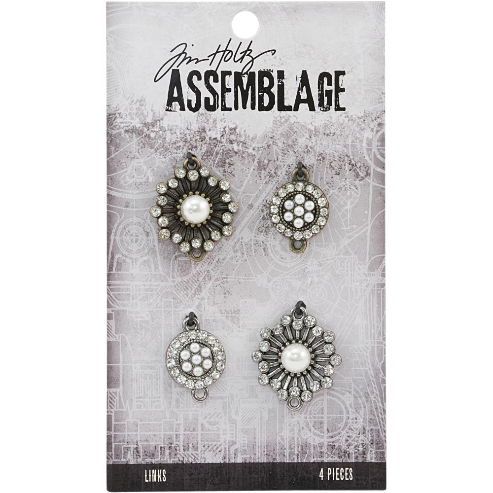 Advantus - Tim Holtz Assemblage Links 4pcs - Pearl Sunburst
