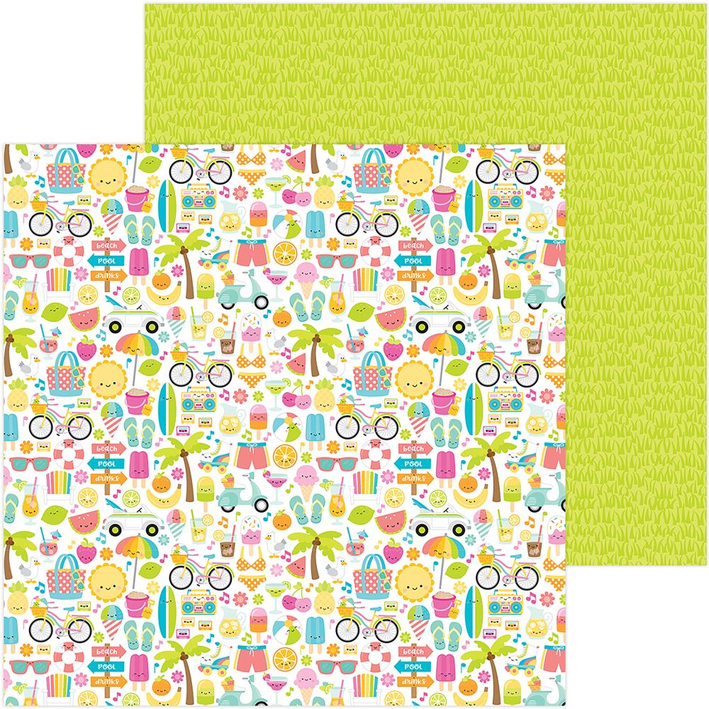 "Doodlebug - Sweet Summer Double-Sided Cardstock 12""X12"" - Summer Fun"