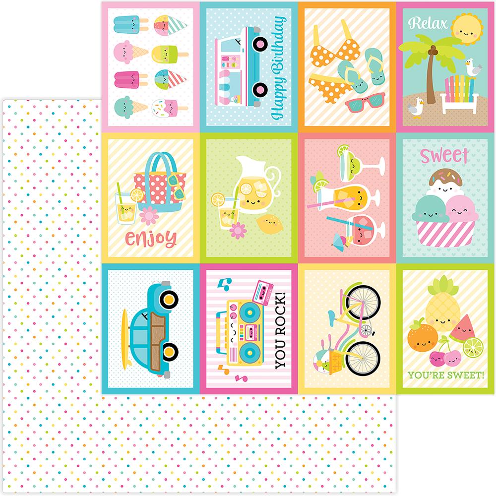 "Doodlebug - Sweet Summer Double-Sided Cardstock 12""X12"" - Summer Sprinkles"
