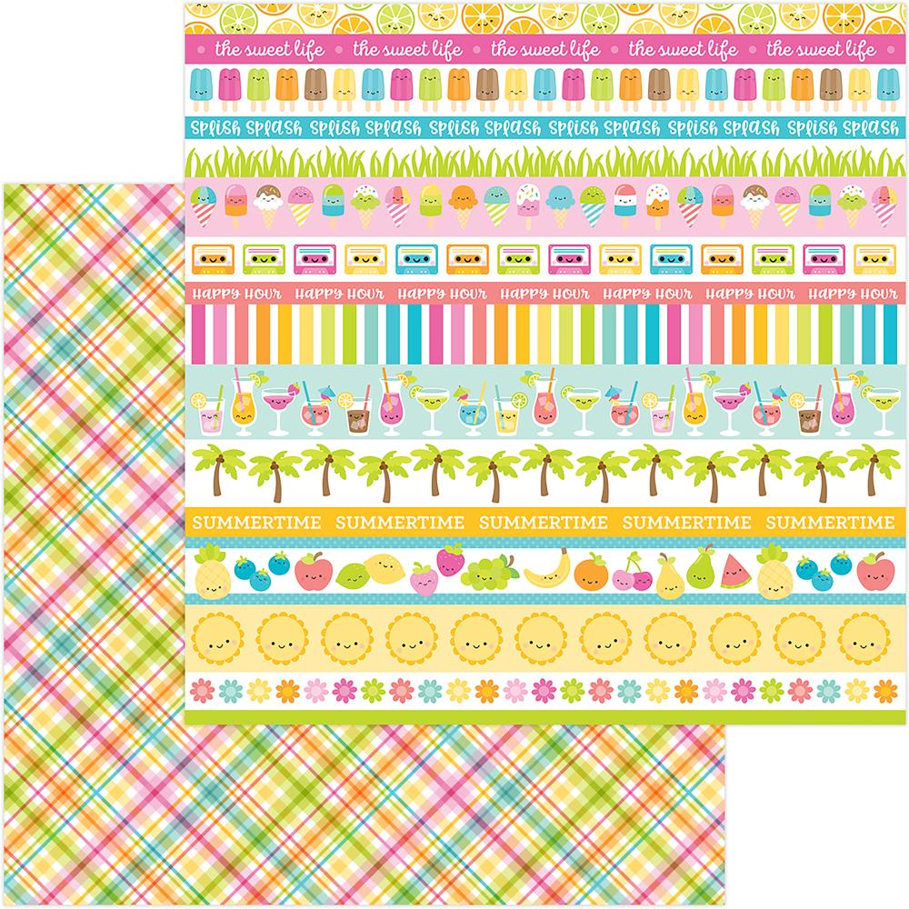 "Doodlebug - Sweet Summer Double-Sided Cardstock 12""X12"" - Punch Plaid"