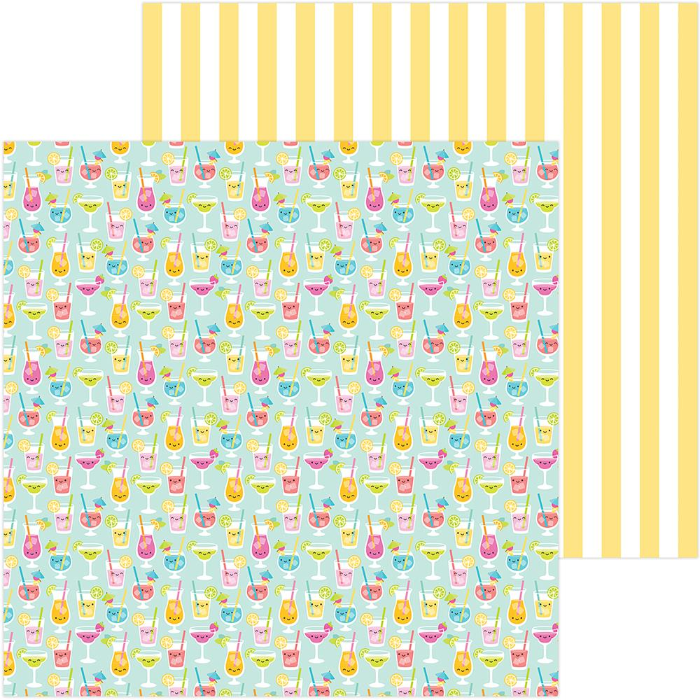 "Doodlebug - Sweet Summer Double-Sided Cardstock 12""X12"" - Happy Hour"