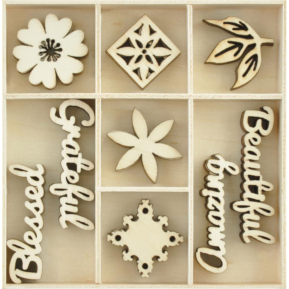 Kaisercraft - Memory Lane Themed Mini Wooden Flourishes - Beautiful