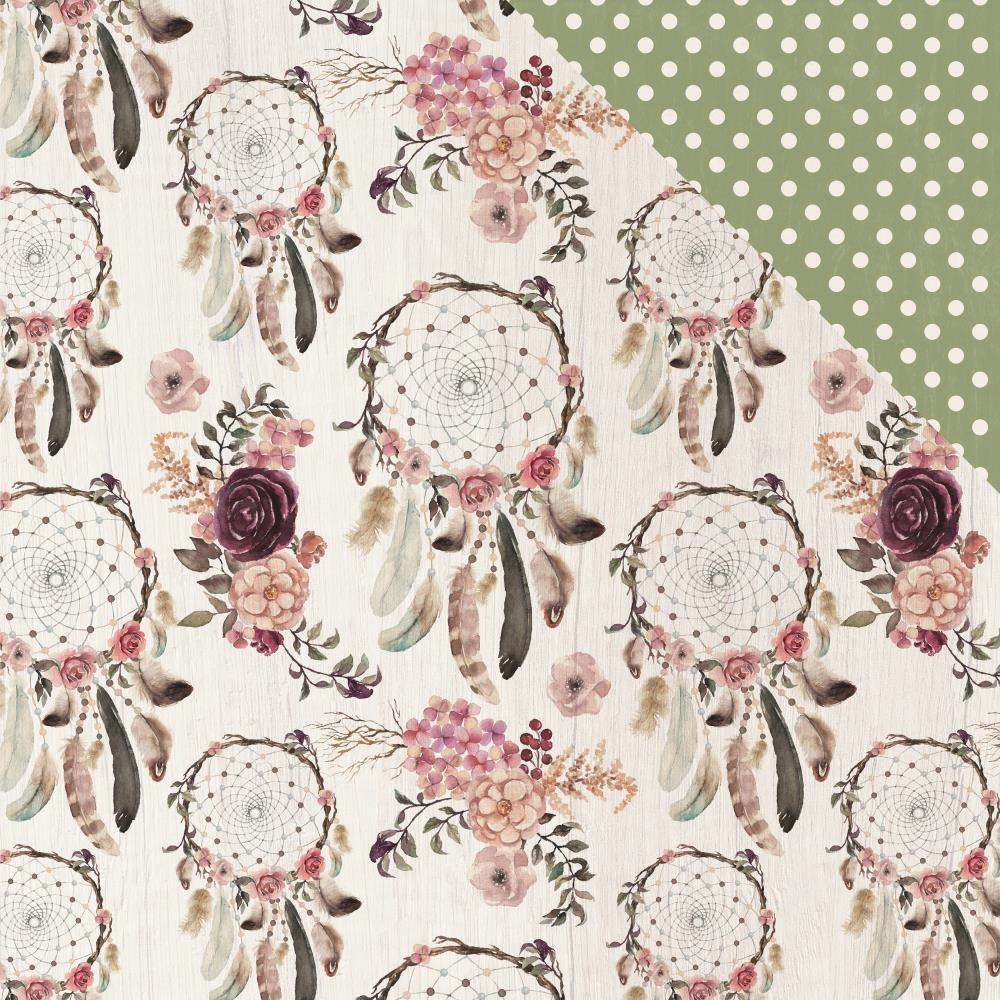 "Kaisercraft - Gypsy Rose Double-Sided Cardstock 12""X12"" - Wandering"