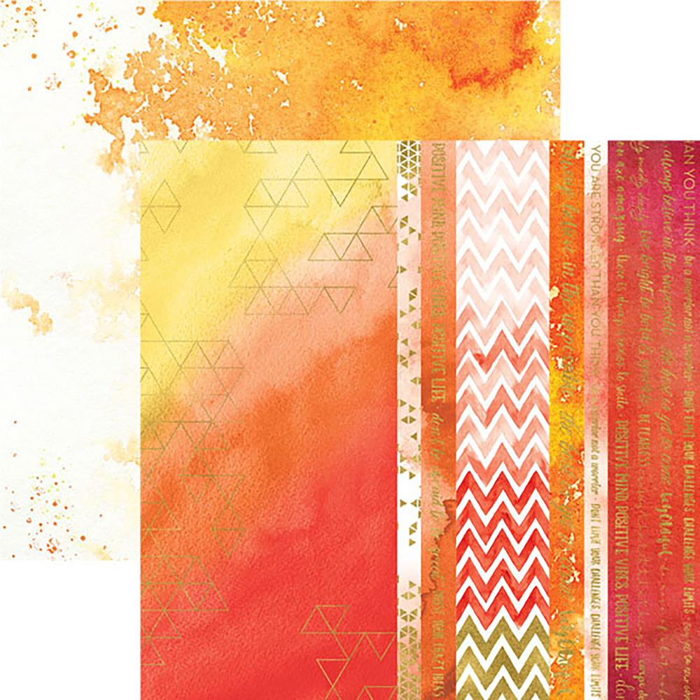 "Paper House - Color Washed Double-Sided Cardstock 12""X12"" - Live Bright"