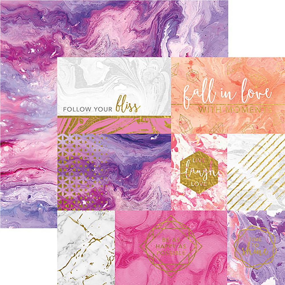 "Paper House - Marbleous Double-Sided Cardstock 12""X12"" - Follow Your Bliss"
