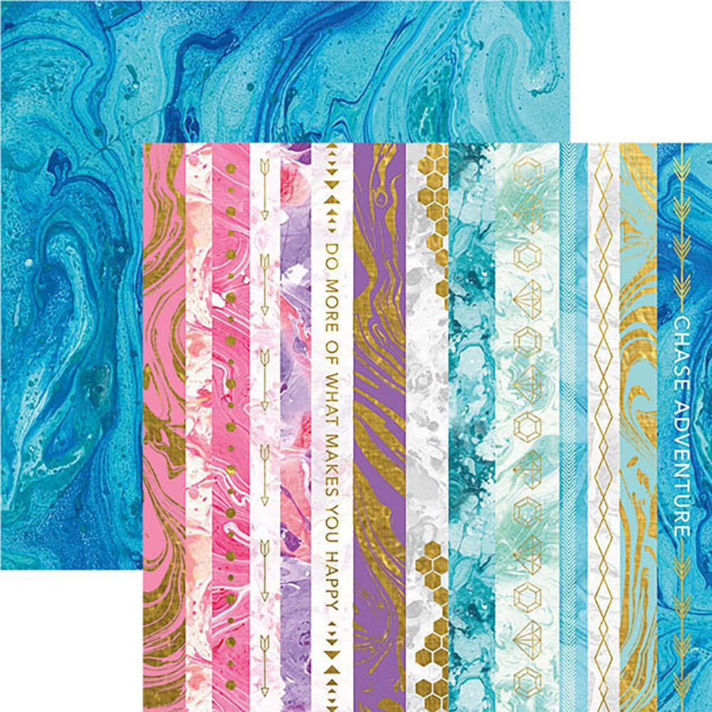 "Paper House - Marbleous Double-Sided Cardstock 12""X12"" - Marbleous Borders"