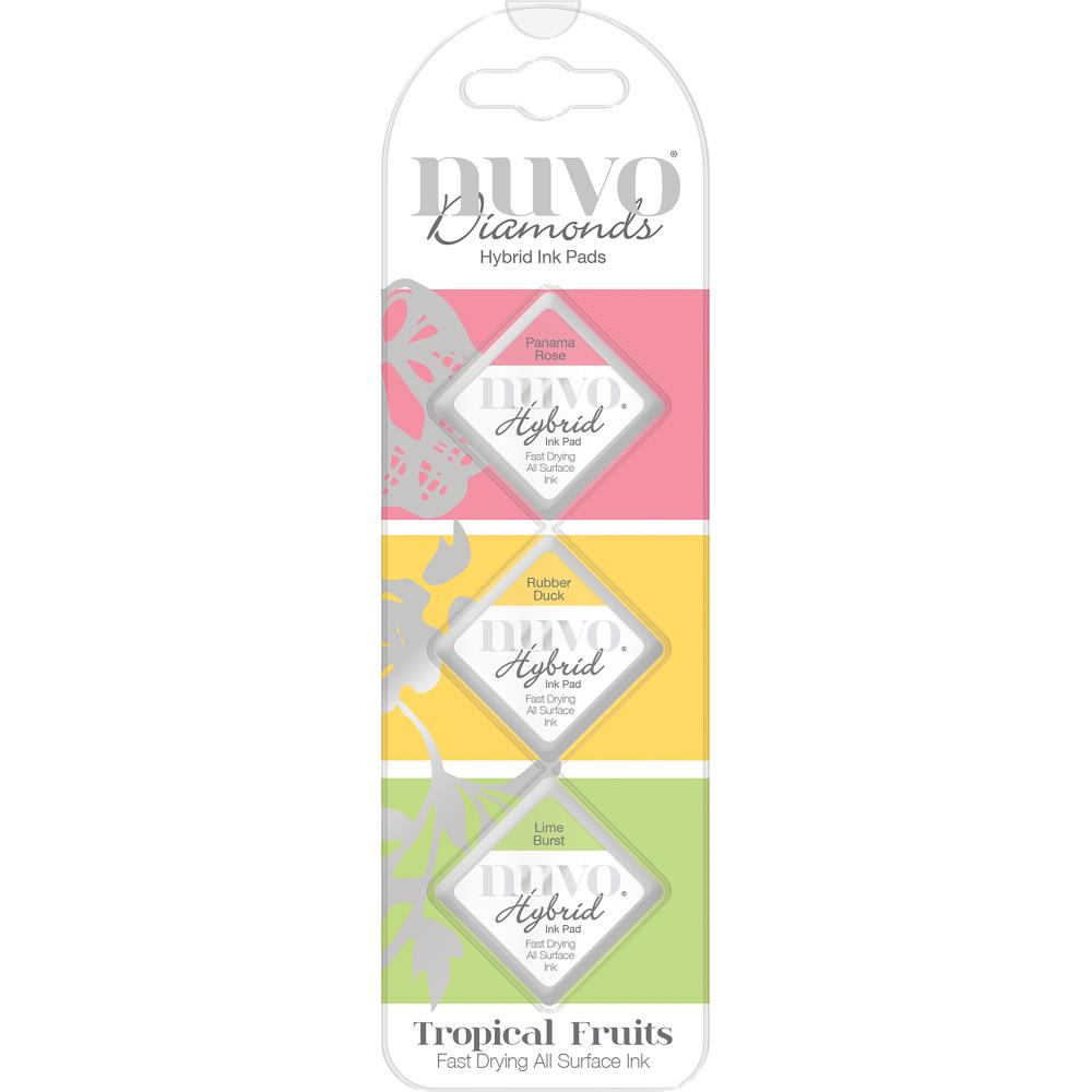 Tonic Studios - Nuvo Diamond Hybrid Ink Pads 3/Pkg - Tropical Fruits