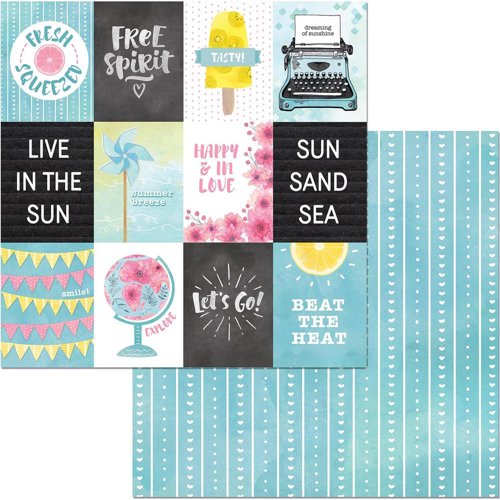 "BoBunny - Summer Mood Double-Sided Cardstock 12""X12"" - Beat The Heat"