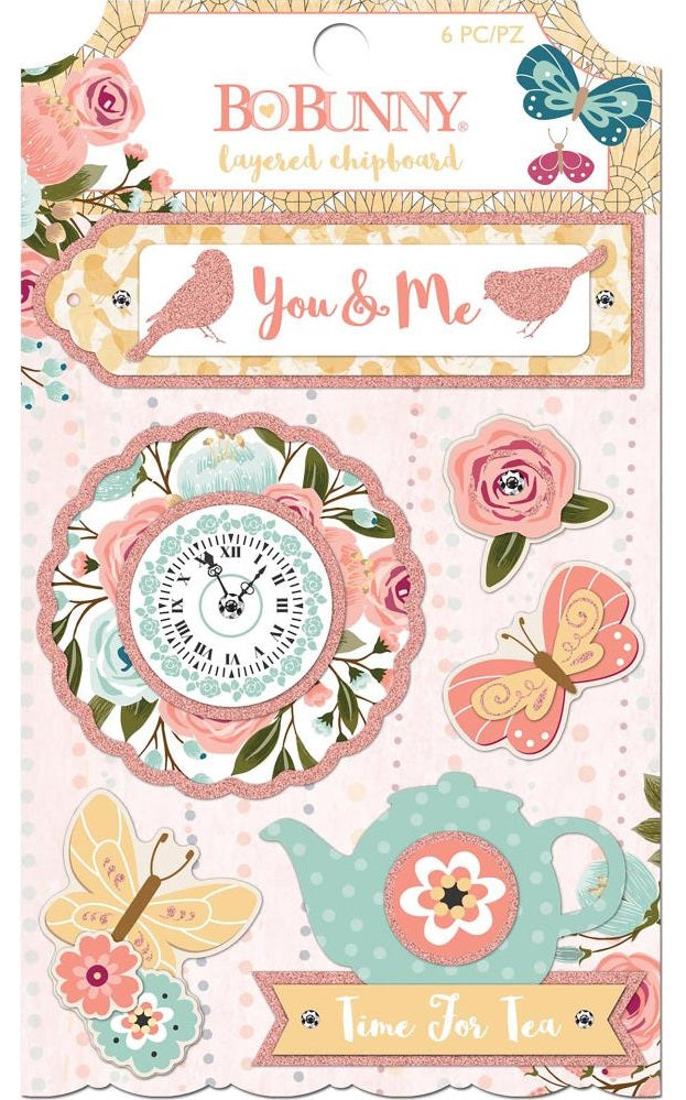 BoBunny - Early Bird Adhesive Layered Chipboard