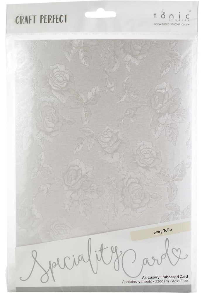 Tonic Studios - Craft Perfect Specialty Card - Ivory Toile