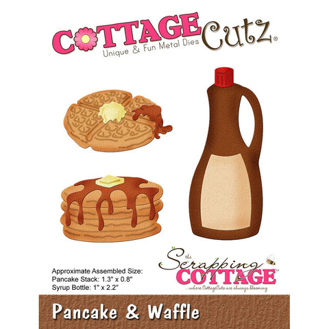 "(Pre Order - March) CottageCutz Die - Pancakes & Waffle, .08"" To 2.2"""