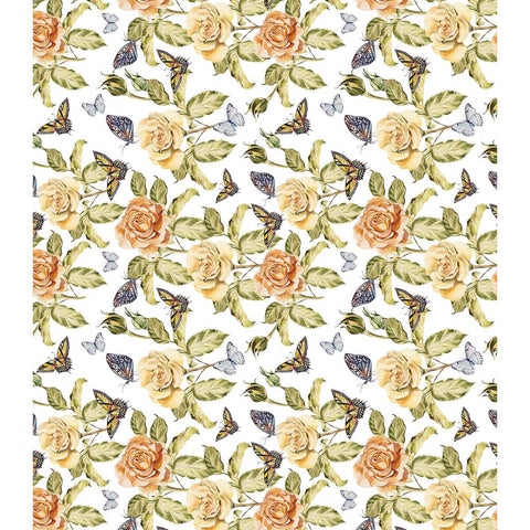 "Craft Consortium - Decoupage Papers 13.75""X15.75"" 3/Pkg - Rose Flutter"