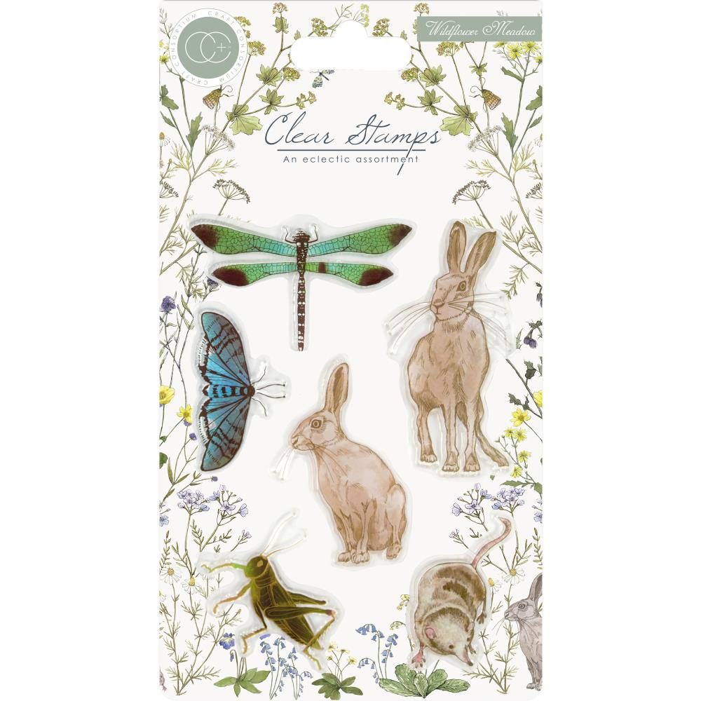 Craft Consortium - A5 Clear Stamps - Wildflower Meadow
