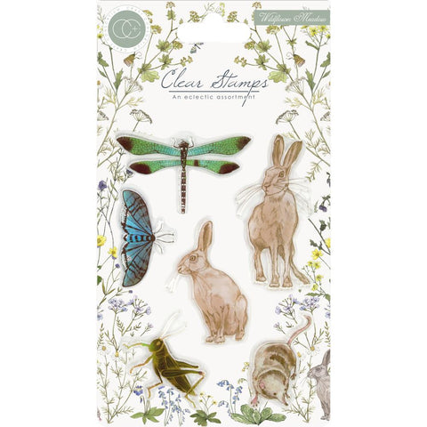 (Pre Order) Craft Consortium - A5 Clear Stamps - Wildflower Meadow