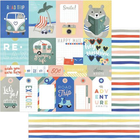 ***April 2018*** Photoplay Paper - Let's Go! Double-Sided Cardstock - Let's Go