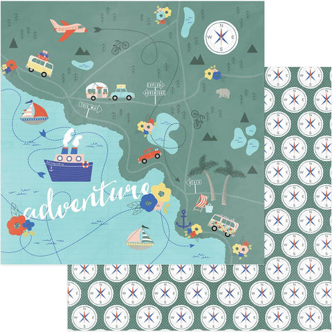 ***April 2018*** Photoplay Paper - Let's Go! Double-Sided Cardstock - Are We There Yet