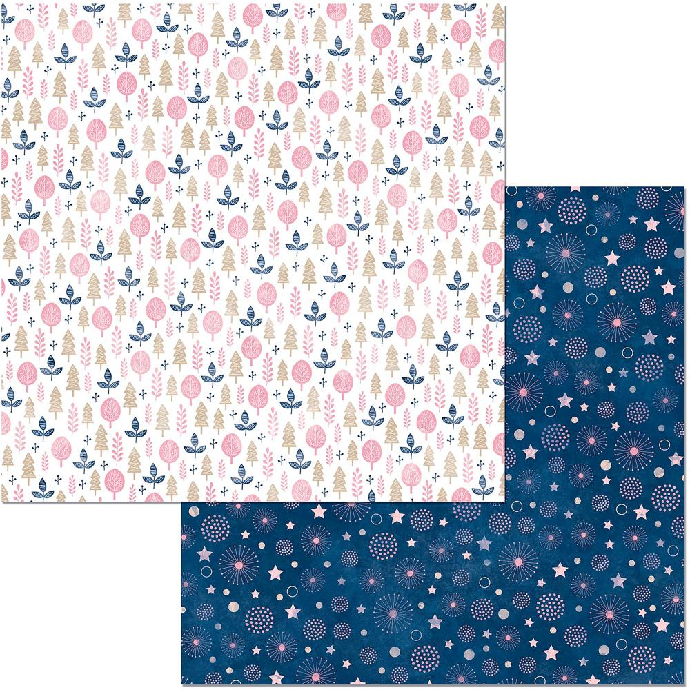 "BoBunny - Little Wonders Double-Sided Cardstock 12""X12"" - Willow"