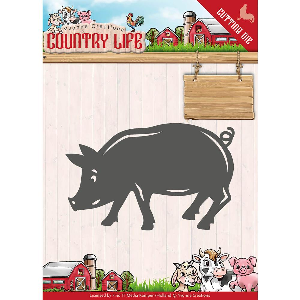 Find It Yvonne Creations Country Life Die - Pig