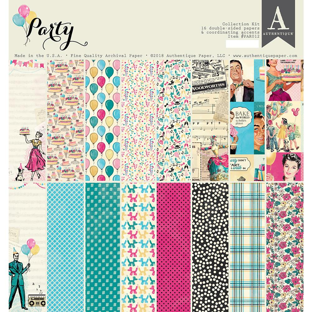 "Authentique Collection Kit 12""X12"" - Party"