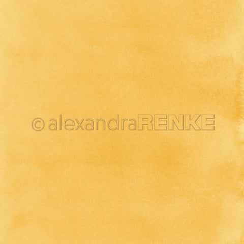"Alexandra Renke - Mimi's Basic Design Paper 12""X12"" - Dark Yellow Watercolor"