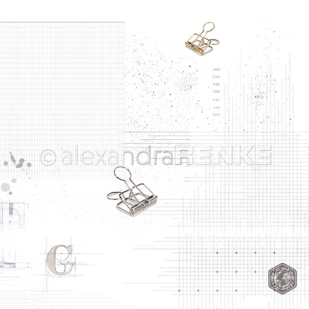 "Alexandra Renke  - Midori Basic Design Paper 12""X12"" - Clips With Pattern"