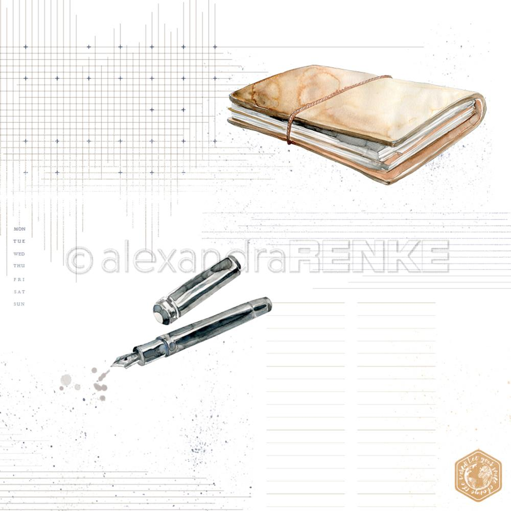 "Alexandra Renke - Midori Basic Design Paper 12""X12"" - Pen & Book With Pattern"