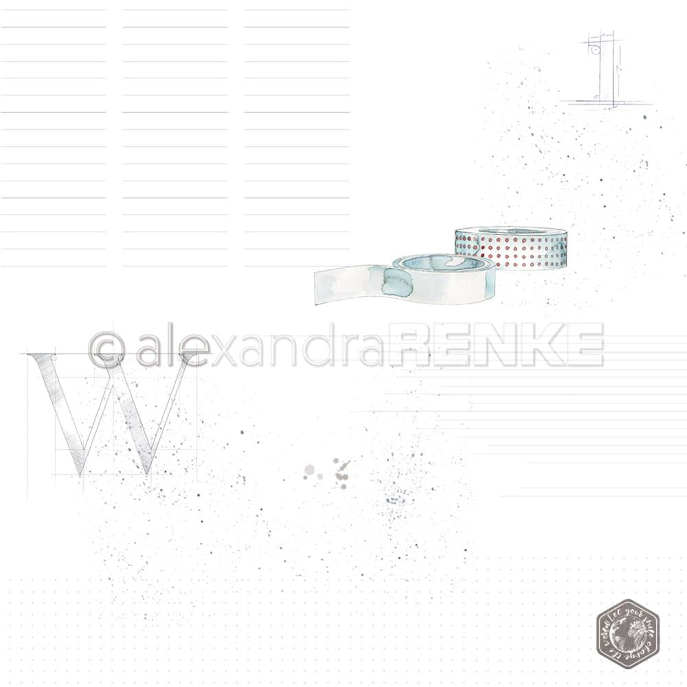 "Alexandra Renke - Midori Basic Design Paper 12""X12"" - Washi Tape With Pattern"