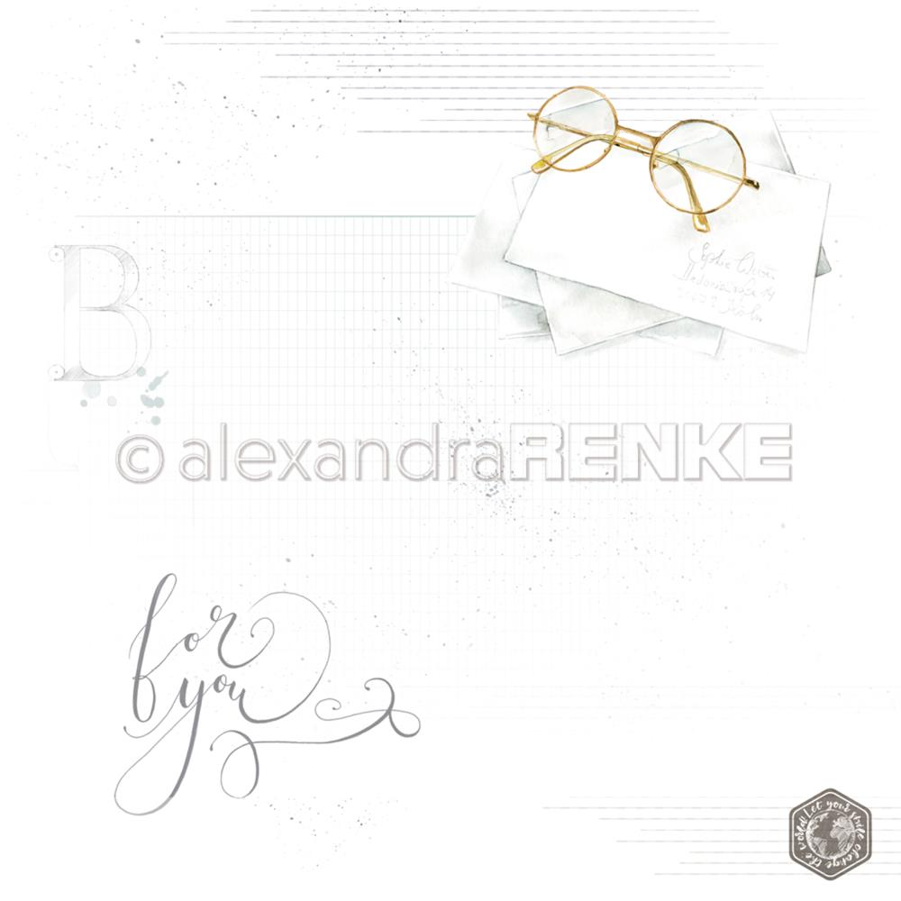 "Alexandra Renke - Midori Basic Design Paper 12""X12"" - Glasses With Pattern"