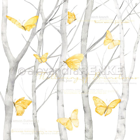 "Alexandra Renke - Butterfly Paper 12""X12"" - Butterfly In Birch Forest International"
