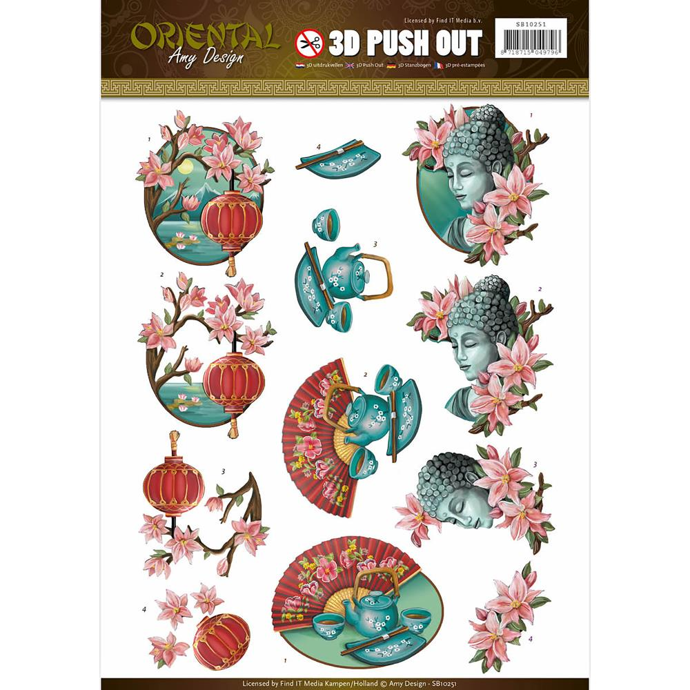 Find It Amy Design - Oriental 3D Push Out Sheet - Oriental Culture