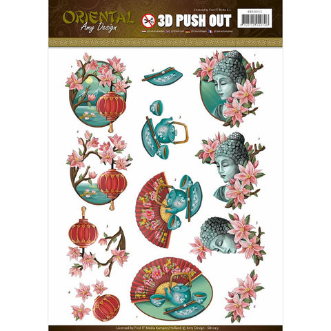 Find It Amy Design - Oriental Punchout Sheet - Oriental Culture