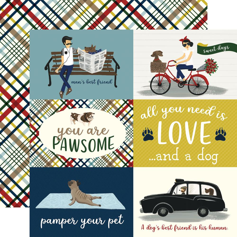 "Echo Park Paper - A Dog's Tail Double-Sided Cardstock - 4""x6"" Journaling Cards"