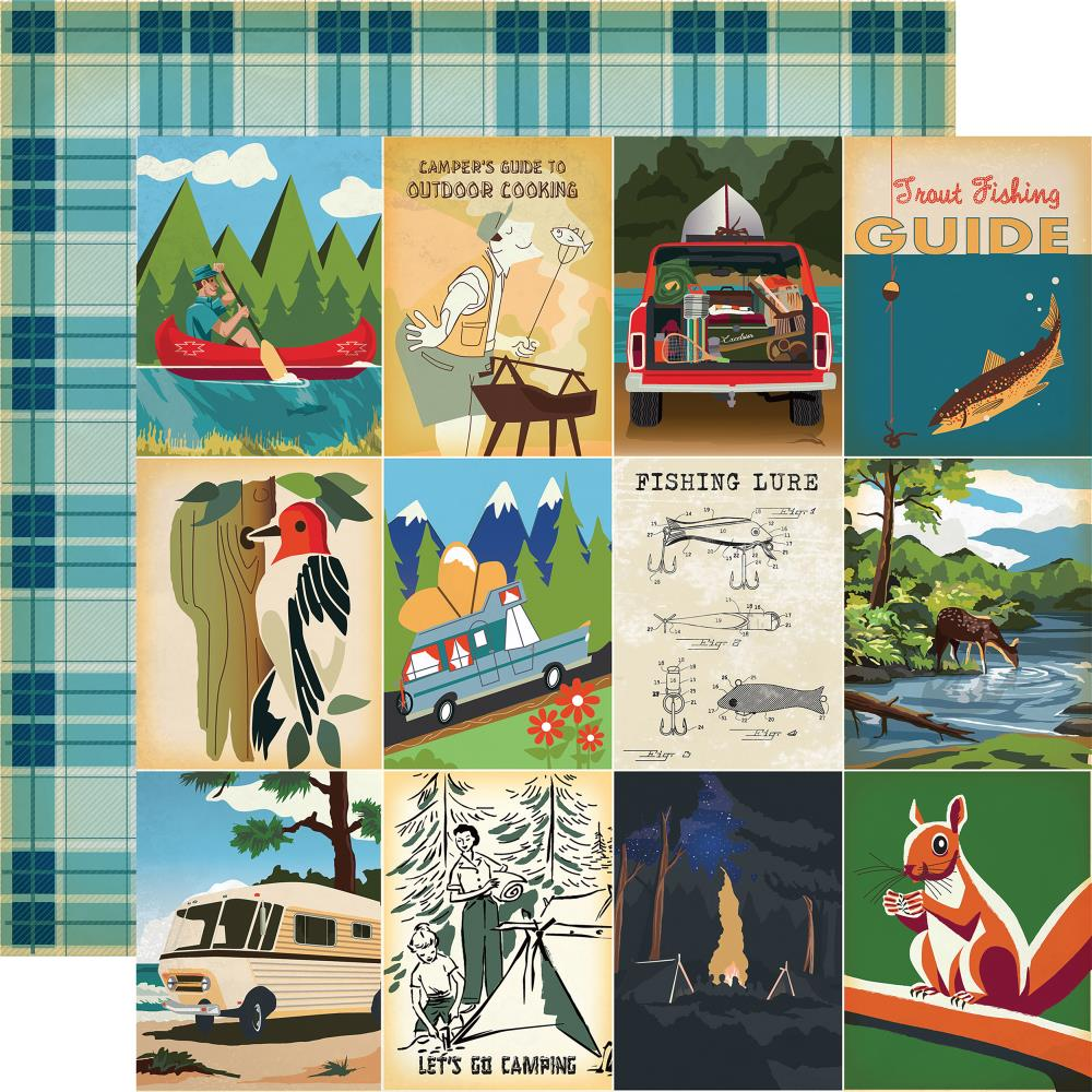 "Carta Bella - Gone Camping Double-Sided Cardstock - 3""x4"" Journaling Cards"